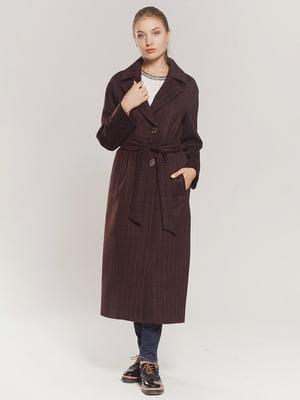 Пальто бордовое | 4739330