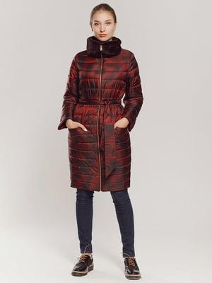 Пальто бордовое | 4739338