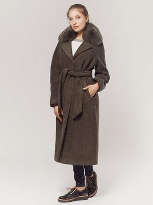 Пальто кольору хакі   4739342