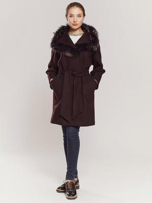 Пальто коричневе | 4739355