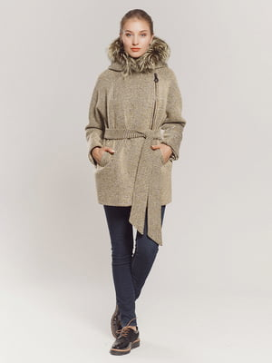 Пальто оливкового кольору | 4739357