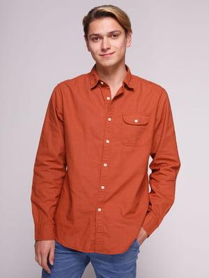 Рубашка кирпичного цвета | 3009723