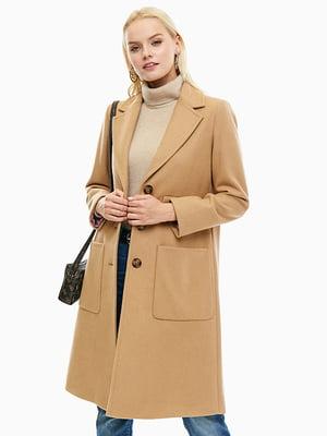 Пальто бежевое | 4546093