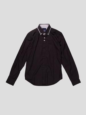 Сорочка чорна в принт | 3009551