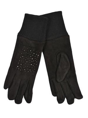 Перчатки черные подростковые | 4634489