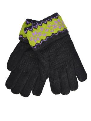 Перчатки черные подростковые | 4757764