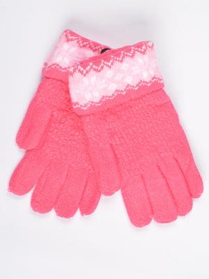Перчатки розовые подростковые | 4757770