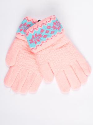 Рукавички рожеві підліткові | 4757772