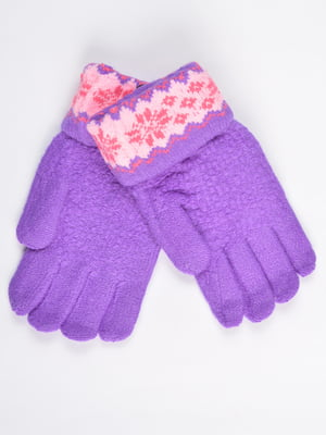 Перчатки фиолетовые подростковые | 4757776