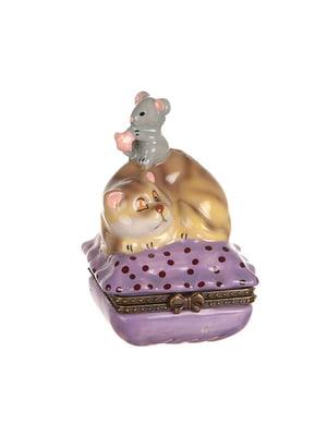 Шкатулка «Кот и мышь» (9 см)   4758463
