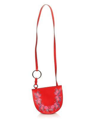 Сумка красная с цветочным принтом | 4742726