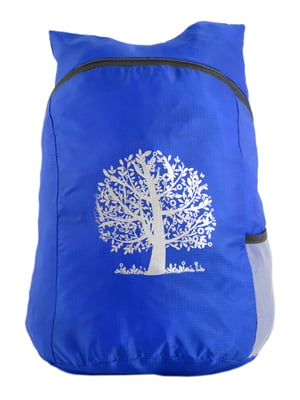Рюкзак синий с принтом | 4758618