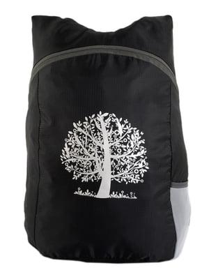Рюкзак черный с принтом | 4758628