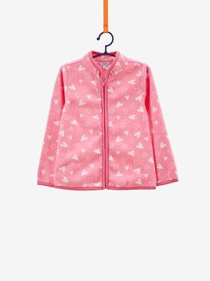 Кофта рожева в малюнок | 4695054