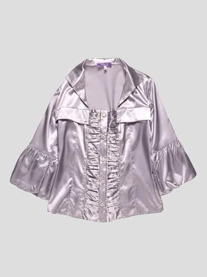 Блуза цвета металлик | 4719505