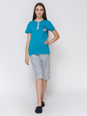 Піжама: футболка і капрі | 4760521