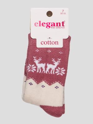 Шкарпетки фрезового кольору махрові | 4760531