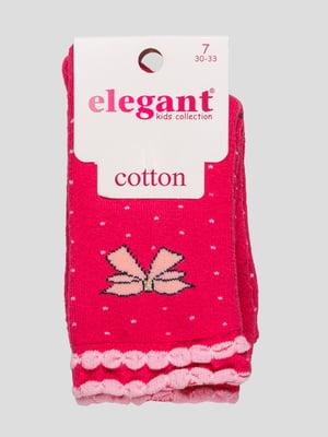 Шкарпетки малинового кольору махрові | 4760536