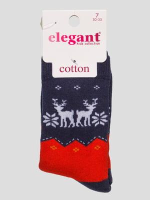 Шкарпетки синьо-червоні махрові | 4760530