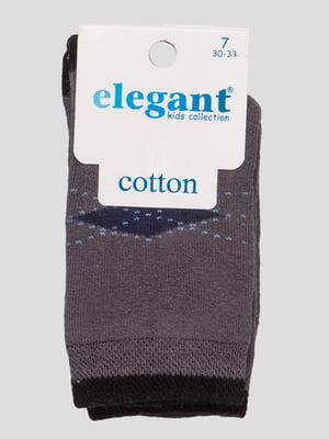 Шкарпетки темно-сірі махрові | 4760525