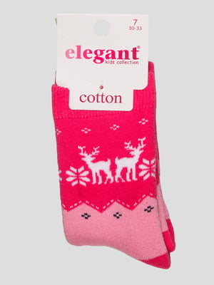 Шкарпетки малинового кольору махрові | 4760533