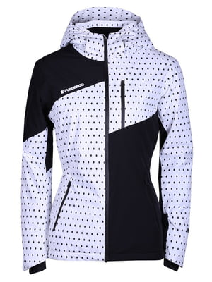 Куртка черно-белая в принт | 4762026