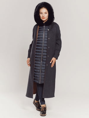 Пальто сине-коричневое | 4739312