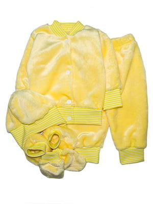 Комплект: кофта, штани, шапка, пінетки і царапки   4762768