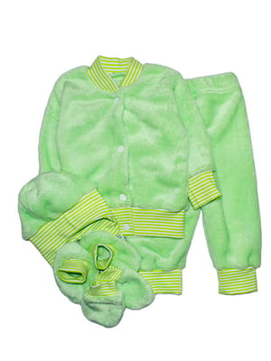 Комплект: кофта, штани, шапка, пінетки і царапки   4762775