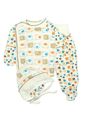 Комплект: сорочечка, повзунки і чепчик   4762814