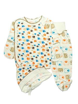 Комплект: сорочечка, повзунки і чепчик   4762815