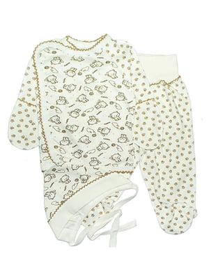 Комплект: сорочечка, повзунки і чепчик   4762816