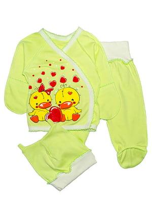 Комплект: сорочечка, повзунки і шапочка | 4762822