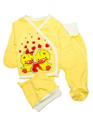 Комплект: сорочечка, повзунки і шапочка   4762824