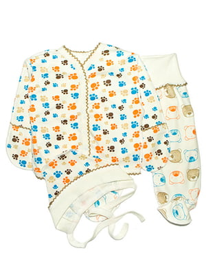 Комплект: сорочечка, повзунки і чепчик   4762826