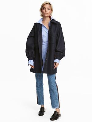 Пальто темно-синее | 4761970