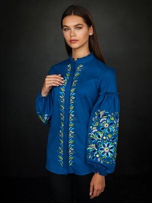 Сорочка синя з вишивкою | 4762970
