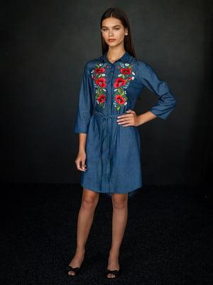 Сукня синя з вишивкою | 4762973