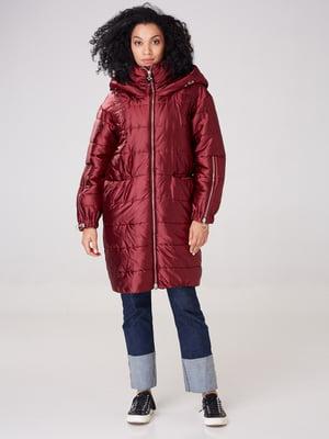 Пальто бордовое | 4763001