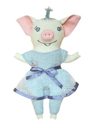 Игрушка интерьерная «Свинка девочка» (20х30 см) | 4764285
