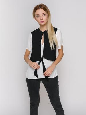 Блуза бело-черная | 2750789