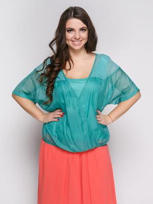 Блуза бирюзовая | 4653184