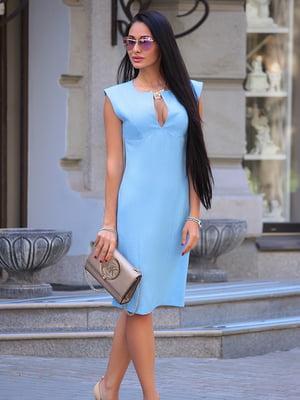 Платье-сарафан голубое | 4766129