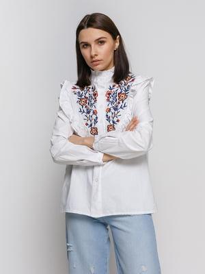 Блуза белая с вышивкой | 4767883