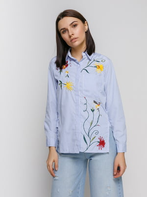 Сорочка в смужку з вишивкою | 4767891