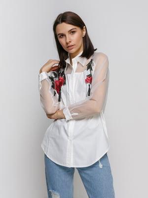 Рубашка белая с вышивкой | 4767886