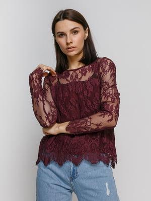 Блуза цвета марсала | 4767866