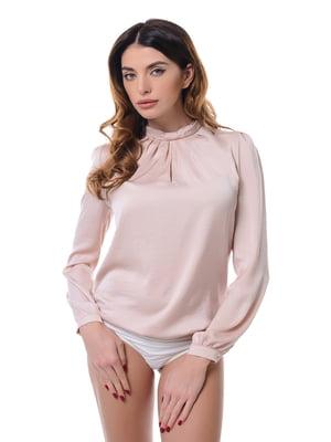 Блуза-боді кольору пудри | 4777117