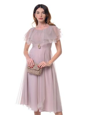Платье серо-розовое | 4777122