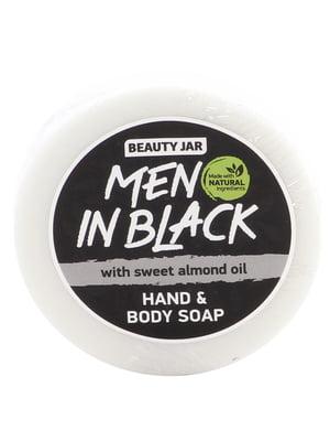 Mило Men In Black з олією солодкого мигдалю і ароматом чоловічих парфумів Boss (80 г) | 4778596